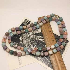 Vintage Cube Bead Necklace